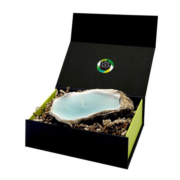 kaars-oester-giftbox-groen