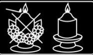 symbool decoratie bij kaars